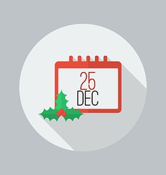 Christmas day calendar Flat Icon vector image