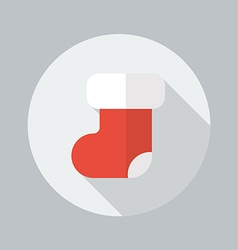 Christmas Stocking Flat Icon vector