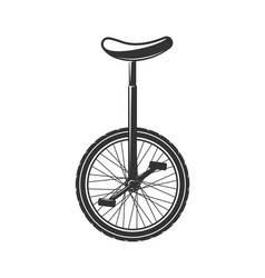 circus unicycle bike isolated on white background vector image