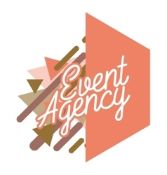 Color vintage event agency emblem vector