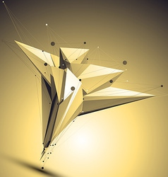 Complicated abstract gold 3D digital eps8 l vector
