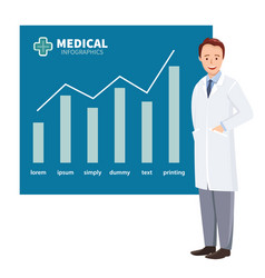 Doctor on background graphs vector