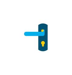 door lock icon flat element vector image