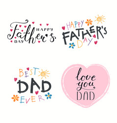 Fathers day quotes set vector