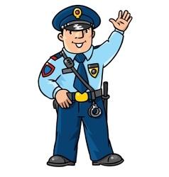 Funny policeman Children vector