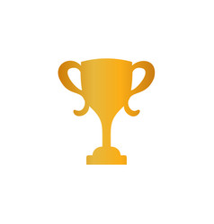 gold cup isolated on white background vector image