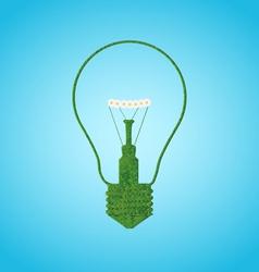 Grace silhouette of bulb lamp vector image