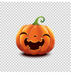 halloween pumpkin in cartoon style smiling vector image
