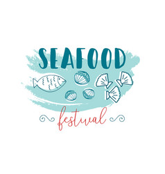 Hand drawn seafood vector