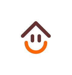 Home smile happy logo icon design vector