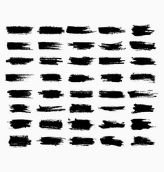 Horizontal black ink scratches or brush watercolor vector