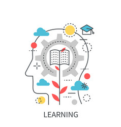 Learning education modern concept vector