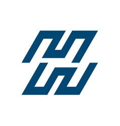 M h w letter logo template design vector