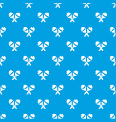 maracas pattern seamless blue vector image
