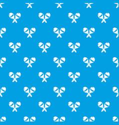 maracas pattern seamless blue vector image