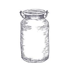 milk hand drawn vector image