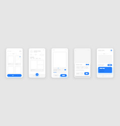 Mobile app concept flowchart with ui elements vector