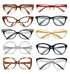 Modern eyeglasses set vector