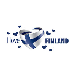 National flag finland in shape a vector