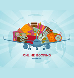 online booking flat concept vector image