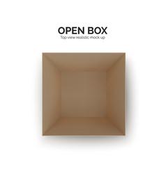 open box top view paper parcel realistic carton vector image