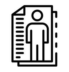 Personal cv papers icon outline style vector