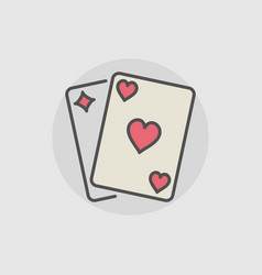Playing cards colored icon vector