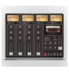 portable recording studio icon vector image