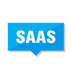 Saas price tag vector