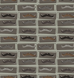 Seamless pattern with hipster mustache vector image