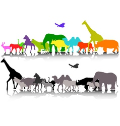 silhouette of safari animal wildlife vector image