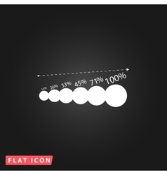 Simple icon graphics growth vector image