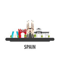 Spain travel location vacation or trip and vector