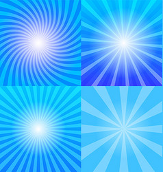 Sunrays backgrounds set vector