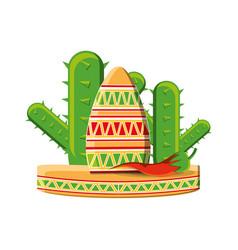 traditional mexican sombrero hat vector image