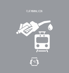 train fuel - icon vector image