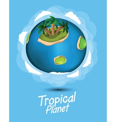 Tropical planet vector