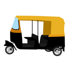Tuk-tuk indian auto rickshaw concept delhi auto vector