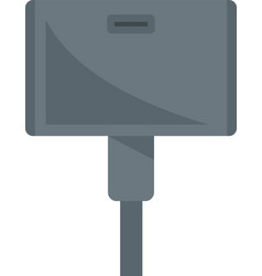 Wide adapter icon flat isolated vector