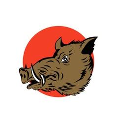 Wild Pig Boar Head vector