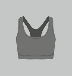 womens black sport bra vector image