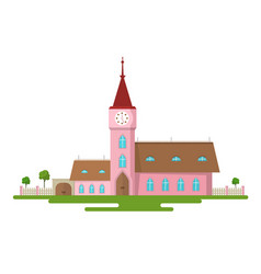 church flat design rural estate abstract building vector image