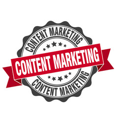 Content marketing stamp sign seal vector