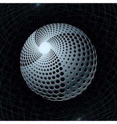 gravity sphere vector image vector image