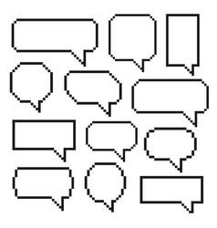 pixel bubble speech vector image