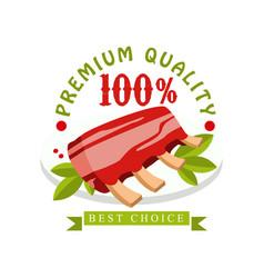 premium quality 100 percent best choice logo vector image