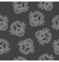 Skull Ornamental Pattern vector image