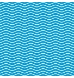 Blue seamless wavy pattern vector image vector image