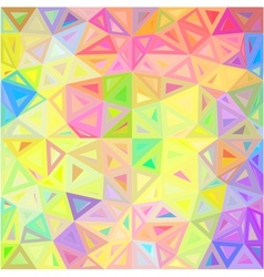 Pastel colors abstract triangles background vector image vector image