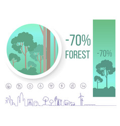 poster devoted problem of deforestation on earth vector image